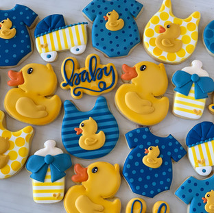 Rubber Ducky Baby Cookies | Simply Renee Sweets