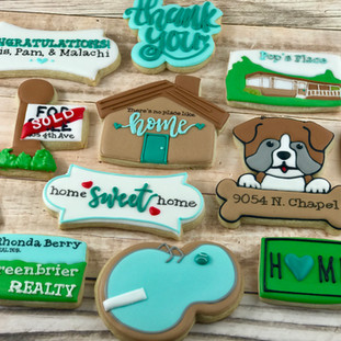 Greenbrier Realty Welcome Home Cookies