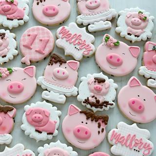 Pink Pigs Birthday Cookies | Simply Renee Sweets