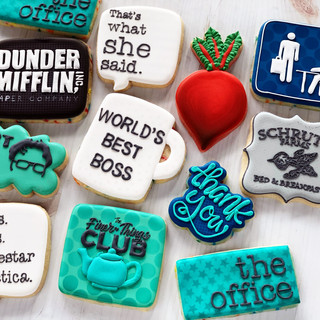 The Office Themed Birthday Cookies | Simply Renee Sweets