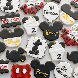 Modern Mickey Birthday Cookies | Simply Renee Sweets
