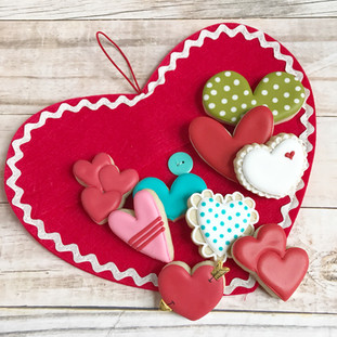Heart Love Decorated Cookies