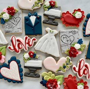 M&L Wedding Cookies