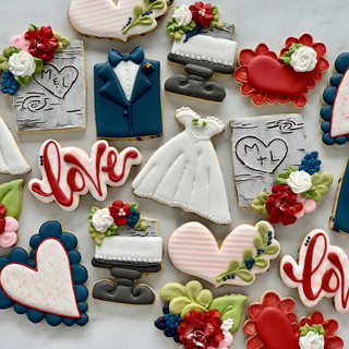 M&L Wedding Cookies