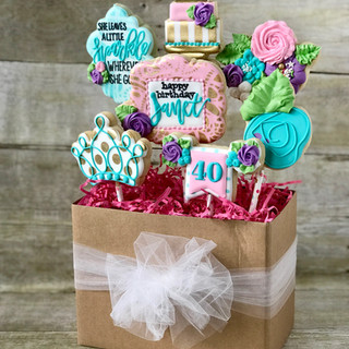 40th Birthday Cookie Bouquet | Simply Renee Sweets