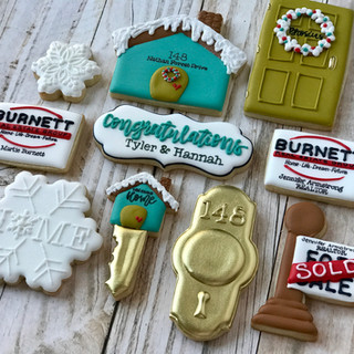 Winter Burnett Real Estate Group Welcome Home Cookies Decorated Cookies