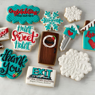 Exit Realty Winter Decorated Cookies