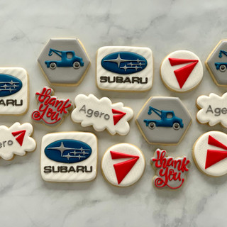 Subaru Logo Cookies