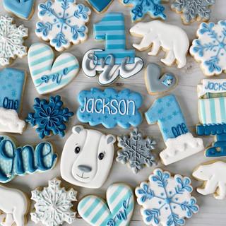 Winter ONEderland Birthday Cookies | Simply Renee Sweets