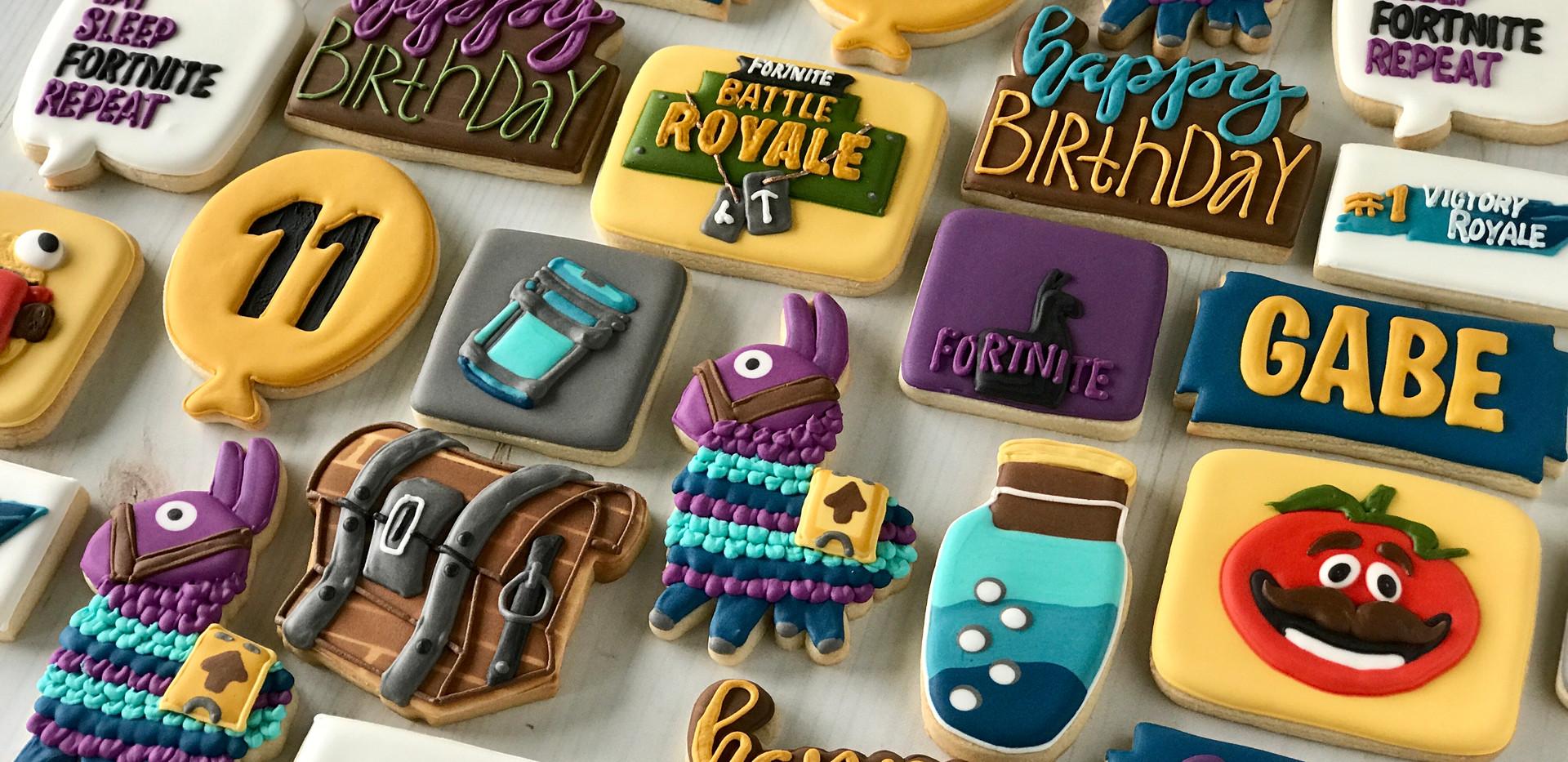 Fortnite Birthday Cookies _ Simply Renee