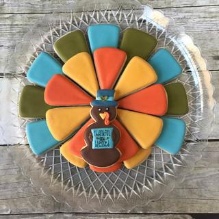 Fall 2017 Decorated Cookies Turkey Platter