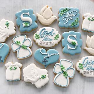 Baby Boy Dedication Baptism Cookies | Simply Renee Sweets