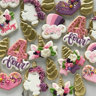 Unicorn Birthday Cookies | Simply Renee Sweets