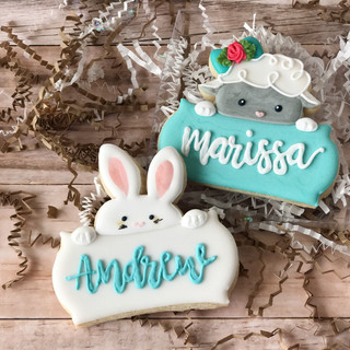 Personalized Easter Decorated Cookies
