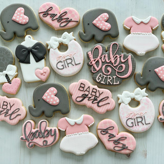Pink Elephant Baby Girl Cookies | Simply Renee Sweets