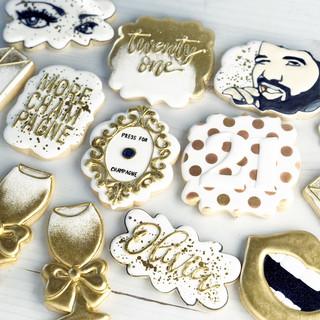 Gold Birthday Cookies | Simply Renee Sweets