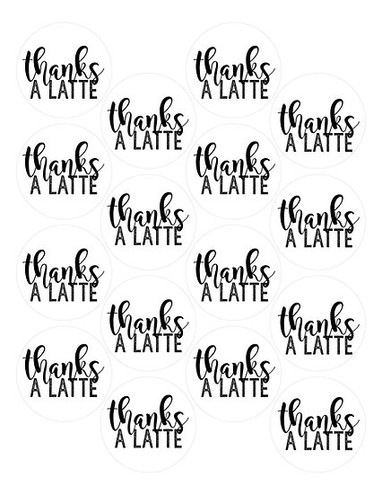 Thanks A Latte Tag Download