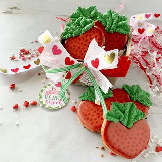 You are Berry Sweet Basket Decorated Cookies