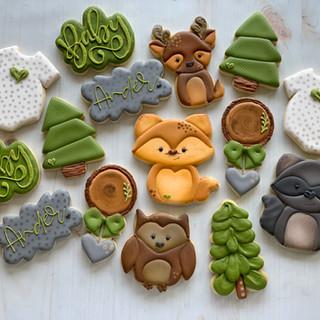 Woodland Baby Cookies