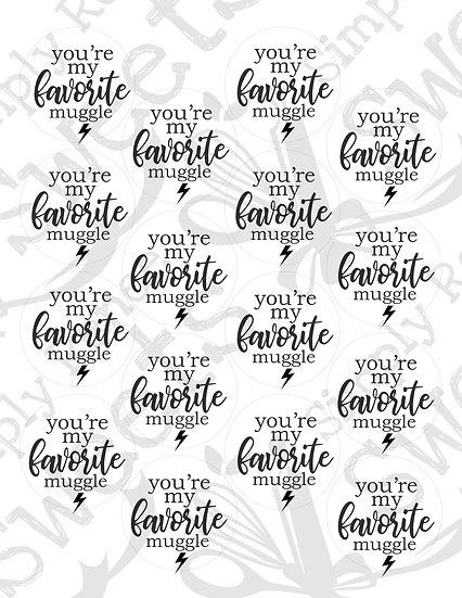 You're My Favorite Muggle Tag Printable2
