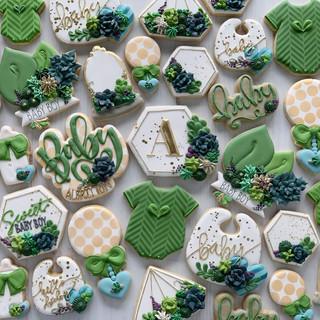 Succulent Baby Cookies | Simply Renee Sweets