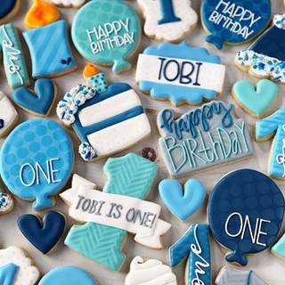 Classic Boy Birthday Cookies   Simply Renee Sweets