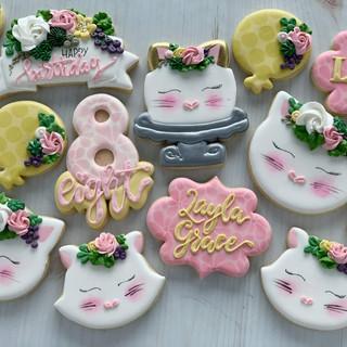 Kitty Cat Birthday Cookies | Simply Renee Sweets