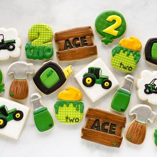 Tractors & Tools Birthday Cookies