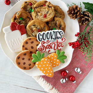 Christmas 2018 Decorated Cookies Cookies for Santa