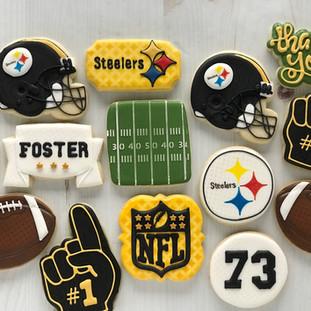 Steelers Football Cookies | Simply Renee Sweets
