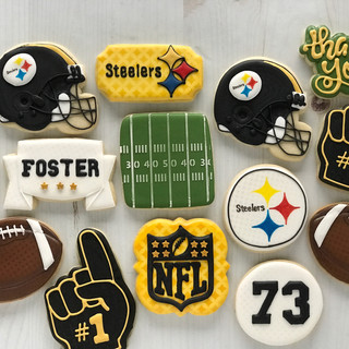 Steelers Football Cookies | Simply Renee Sweets