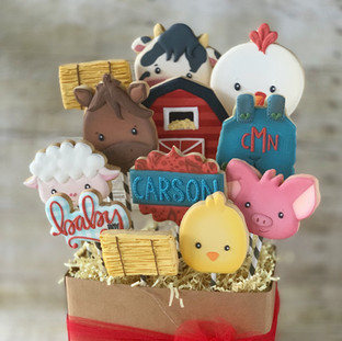 Farm Animals Baby Shower  Cookie Bouquet | Simply Renee Sweets