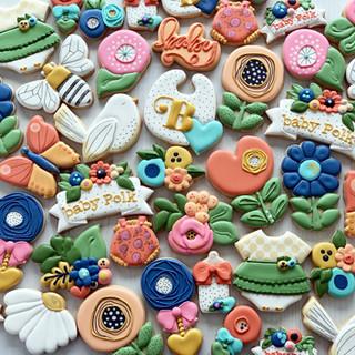 Whimsy Flower Baby Cookies | Simply Renee Sweets