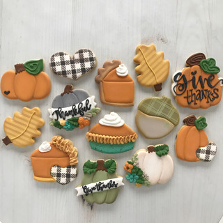 Fall 2018 Decorated Cookies