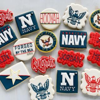 NAVY Graduation Cookies