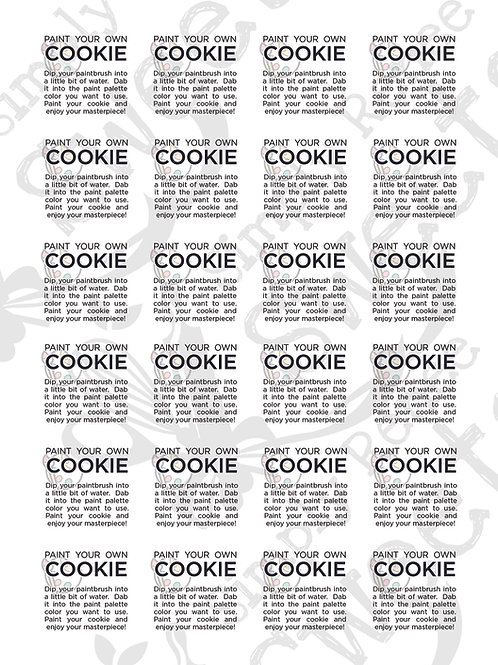 Paint Your Own Cookie - SQUARE labels