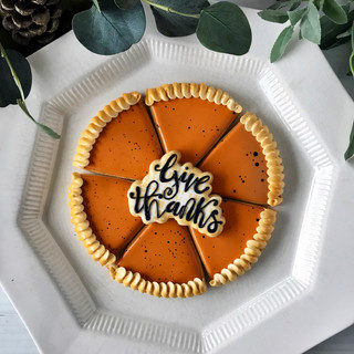 Fall 2018 Decorated Cookies Give Thanks Pie