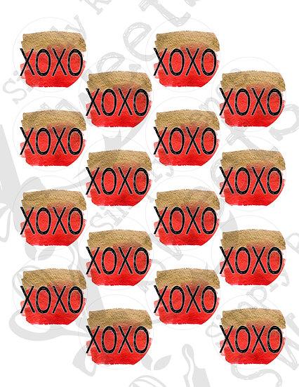 XOXO Tag Printable