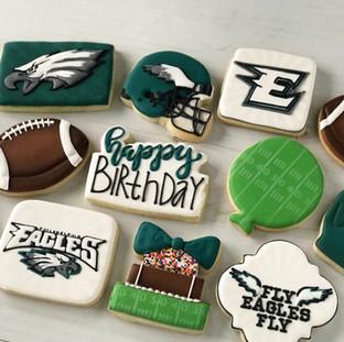 Eagles Football Cookies | Simply Renee Sweets