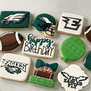 Eagles Football Cookies | Simply Renee Sweets