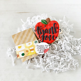 Teacher Thank You Apple Cookie | Simply Renee Sweets