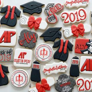 Austin Peay 2019 Graduation Cookies | Simply Renee Sweets