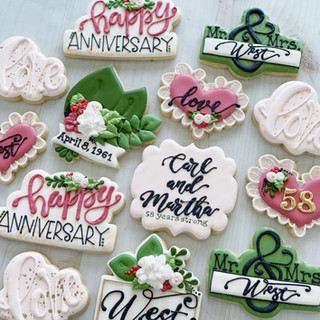 Anniversary Cookies | Simply Renee Sweets