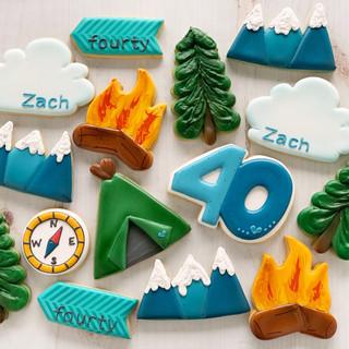 Outdoor Man Birthday Cookies | Simply Renee Sweets