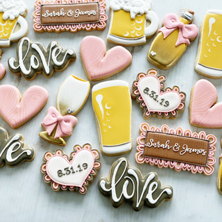 Sips & Brews Wedding Shower Cookies | Simply Renee Sweets
