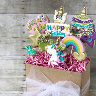 Unicorn Cookie Bouquet | Simply Renee Sweets