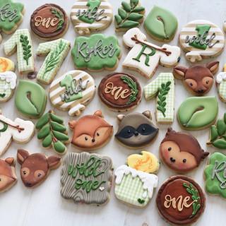Woodland Birthday Cookies   Simply Renee Sweets