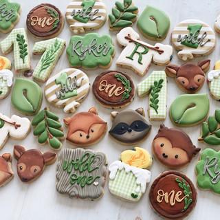 Woodland Birthday Cookies | Simply Renee Sweets