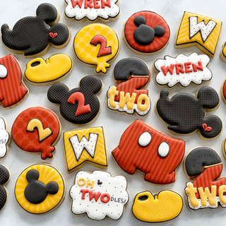 Classic Mouse Oh TWOdles Birthday Cookies