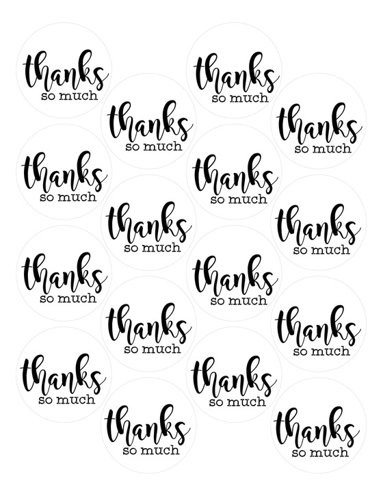 FREE Thank You Circle Tags